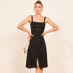 Reformation Black Midi Persimmon Dress